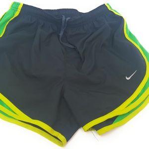 Nike Dri-Fit Running Shorts Black Green Yellow